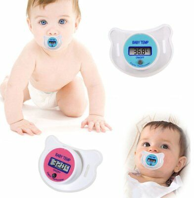 Baby Kid LCD Digital Mouth Nipple Pacifier Thermometer Temperature