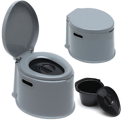 5L Portable Toilet Seat Compact Potty Loo Travel Camping Picnic Parties Festival