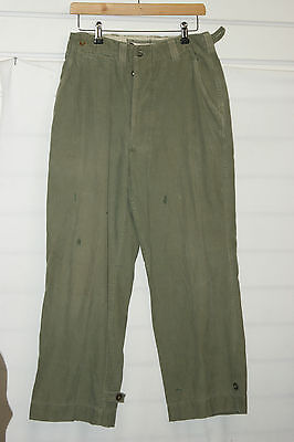 Vtg British U.s O.g Cotton Sf Sas Para Airborne Over Trousers V Rare Post Ww2 Ww