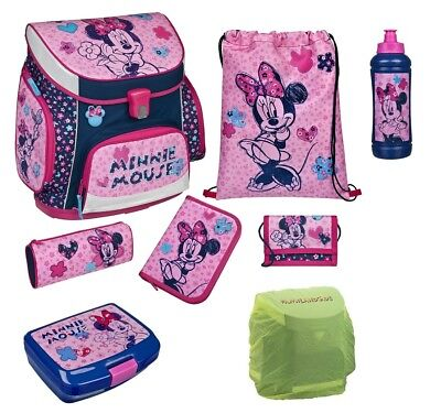 Disney Minnie Mouse Schulranzen Set 8tlg. Scooli Campus Up mit Dose Trinkflasche