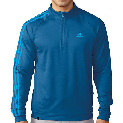 Adidas Golf 2016 Mens 3-Stripes 1/4 Zip LC Logo Pullover Layering Top