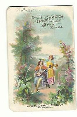 Old Trade Card Choice Bohsemeem Spices Weikel Smith Spice Co Philadelphia PA