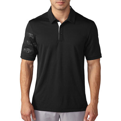 Adidas Golf 2016 Mens ClimaChill Deboss Camo Competition Polo Shirt