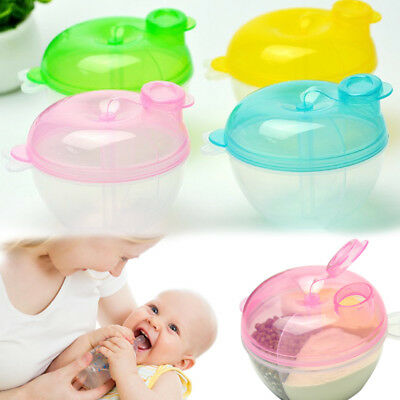 Portable Baby Infant Travel Milk Powder Formula Dispenser Container Box