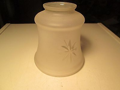 Vintage Art Deco Frosted Cut Glass Lamp Shade Victorian