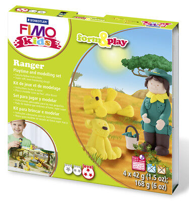 Fimo Kits For Kids Form & Play Polymer Modelling Oven Bake Clay - SET Ranger