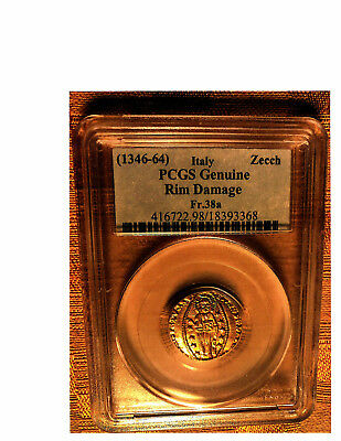 1346-64 Italy Hand Hammered GOLD Zecchino PCGS