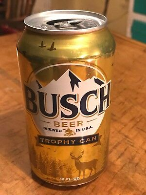 Busch Trophy Beer Can ... Gold 2017 (Rare)