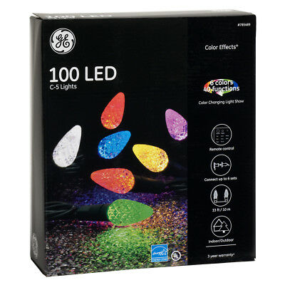 GE Color Effects 100-Count Multi-Function Color Changing C5 LED Indoor/Outdoor