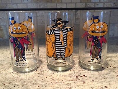 McDonald's Glasses - Hamburglar and Mayor McCheese