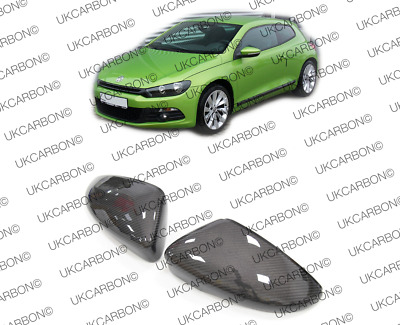 VW Scirocco GENUINE UK Carbon Fibre Wing Mirror Covers Full Replacement Type