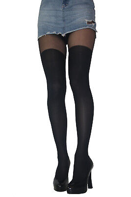 Mock Suspender Stockings Tights 40 / 20 Denier New Size S M L