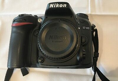 Nikon D D7100 24.1MP Digital SLR Camera - Black (Body Only) with battery
