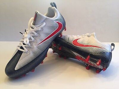 Nike Vapor Untouchable Pro PF Football Cleats White Blue Red Size 13 839924 -419