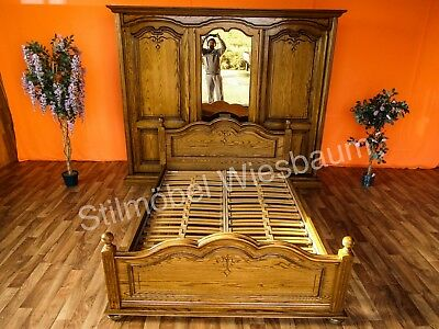 schlafzimmer jugend bett aus eiche holz massiv eur 499 00 picclick de. Black Bedroom Furniture Sets. Home Design Ideas