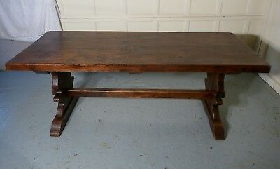 A Large French Refectory Style Elm Table