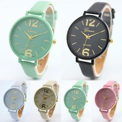 Women's Fashion Watch Geneva Roman Numerals Leather Analog Quartz Wrist Watches