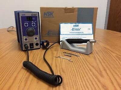NSK EMax Micromotor NE-129 Control Unit with NK-351 Handpiece