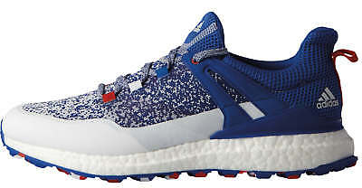 reputable site 558ce aa1a7 Adidas Crossknit Boost Golf Shoes DB1419 BlueWhiteRed USA Limited Mens  New