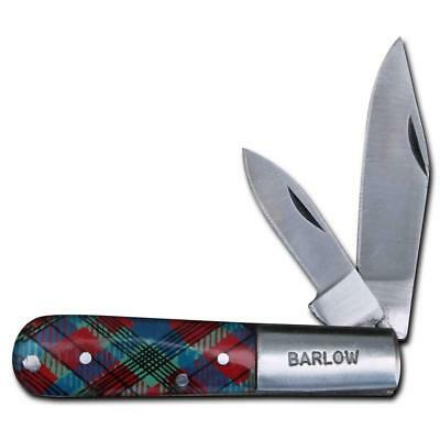 Barlow Two Blade Pocket Knife - Tartan Scottish Celtic Handle NEW - Barlow-K-TP