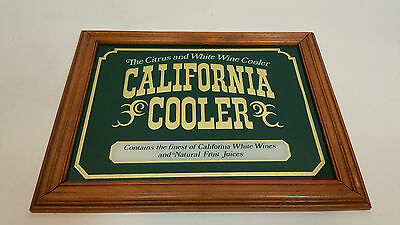 California Cooler Wine Bar Mirror - Bar Decoration Decor Sign Display