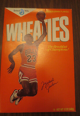 Michael Jordan 1st Edition 1988 Wheaties Cereal Box Sealed Rookie. RARE 12 oz