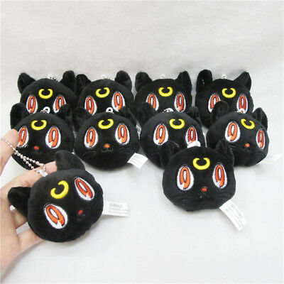"3"" Sailor Moon Black Cat Luna Diana Plush Stuffed Doll Toy Keychain Keyring Toy"