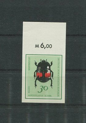 DDR PH 1415 KÄFER 1968 PHASENDRUCK ENDPHASE BEETLE BUG PROOF IMPERF RARE!! p351