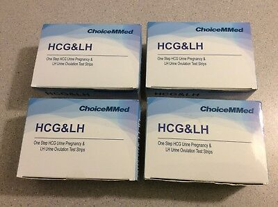 Lot of ChoiceMMed 120 Ovulation Test Strips(LH) & 20 Pregnancy Test Strips(HCG)