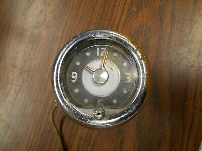 Great Vintage 1949 Borg Instrument Company Automobile Dash Clock Ratrod Gas Oil