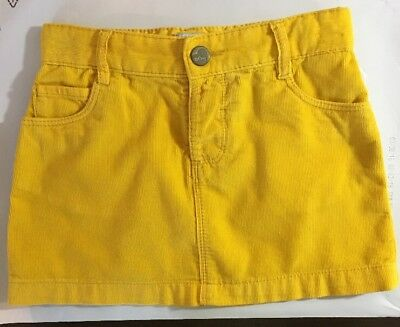 OLD NAVY Baby Girl Toddler Yellow Corduroy Skirt Size 3T