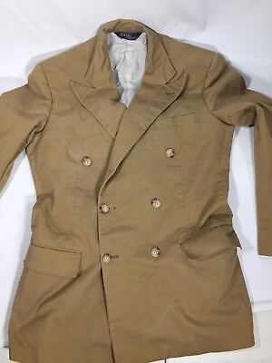 Vtg Rare Interesting Polo Ralph Lauren Guranteed To Wrinkle Suit Made In USA