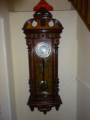 Antique 2 Weight Vienna Wall Clock and springer wall clock