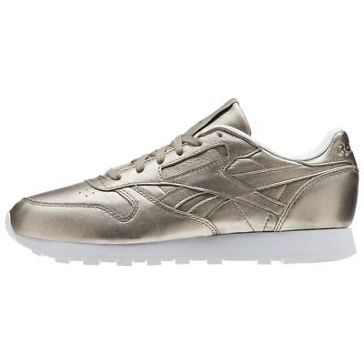 b586b094e4c44 Women s Reebok Classic Leather Melted Metals Grey Gold   BS7898   CL L Pearl  Met