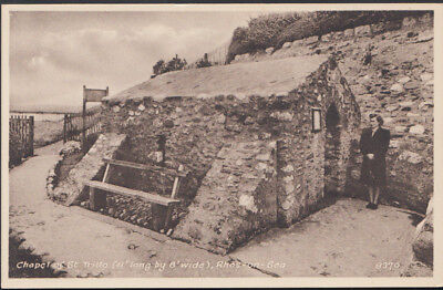 Wales Postcard - Chapel of St Trillo, Rhos-On-Sea  RS6643