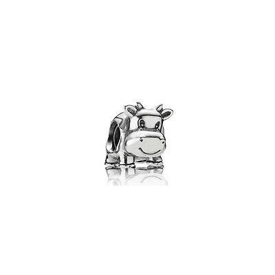 Authentic Pandora Charm Sterling Silver 790565 Cow Charm