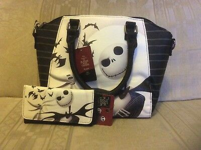 Disney X Loungefly The Nightmare Before Christmas Jack Satchel Bag & Wallet Set