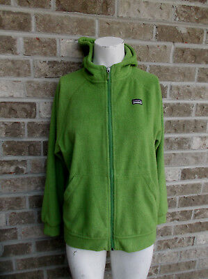 Kid's Patagonia Hoodie Jacket Coat Lemon Green/Full zip Sz XL (14)