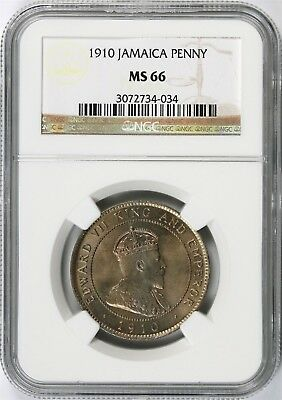 1910 Jamaica One Penny NGC MS66