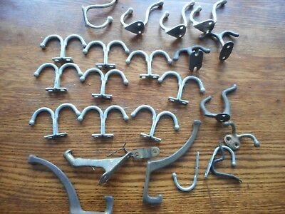 Lot of 24 Vintage ANTIQUE Old Primitive COAT HANGER Wall HOOKS  REPURPOSE RUSTIC