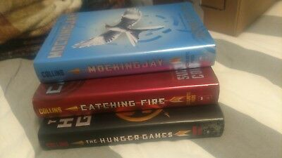 The Hunger Games Trilogy, Suzanne Collins, 3 Book Box Set, HBDJ First editions