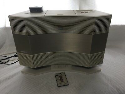BOSE ACOUSTIC WAVE Music System CD-3000 w/Pedestal PD-2/Bluetooth&Aux  Cord/NICE!