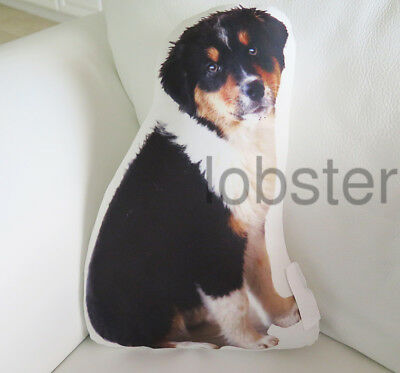 BERNESE or SWISS MOUNTAIN DOG PILLOW Photograph on fabric 15 inch zipper cover