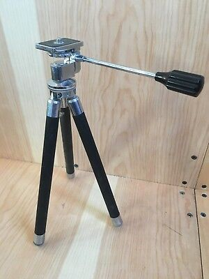 "BEAUTIFUL Vintage Camera Tripod, Telescoping Legs, 11"" to 44"" Travel Tripod"