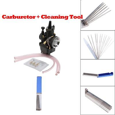 Carb Carburetor Kit With Cleaning Tool for Keihin PWK Scooter ATV Quad 34mm