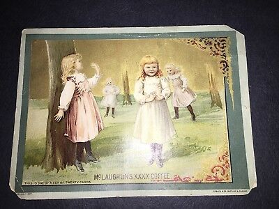McLaughlin's XXXX Coffee Picture Card 4 Girls Playing In The Woods