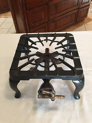 Vintage Griswold Cast Iron Single Burner Gas Stove Made In Usa #31 - Rare, Nice!