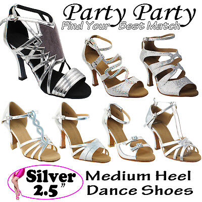 """~50 SHADES of SILVER~ 2.5"""" Heel Dance Dress Shoes Collections-III by Party Party"""