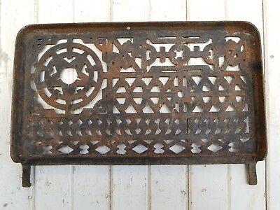 Antique Cast Iron Wood Stove Door ~ Old Vintage Primitive Cabin Farm Decor Sign