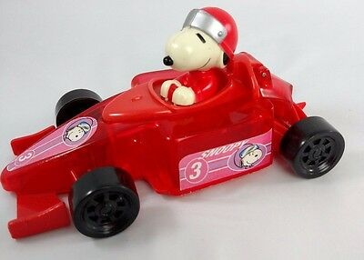 SNOOPY Race Car Driver GALERIE Candy Dispenser PEANUTS GANG Red SPORTS Car 5""